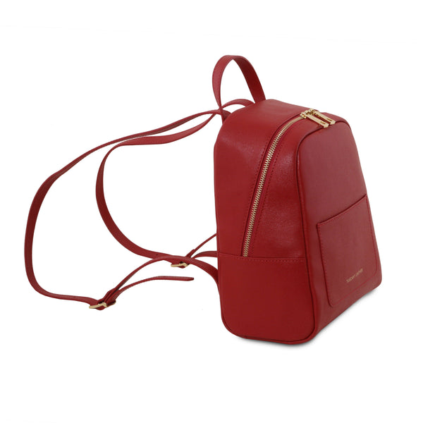 Tuscany Leather 'TL Bag' Small Saffiano Leather Backpack For Women (Small) Backpack Tuscany Leather