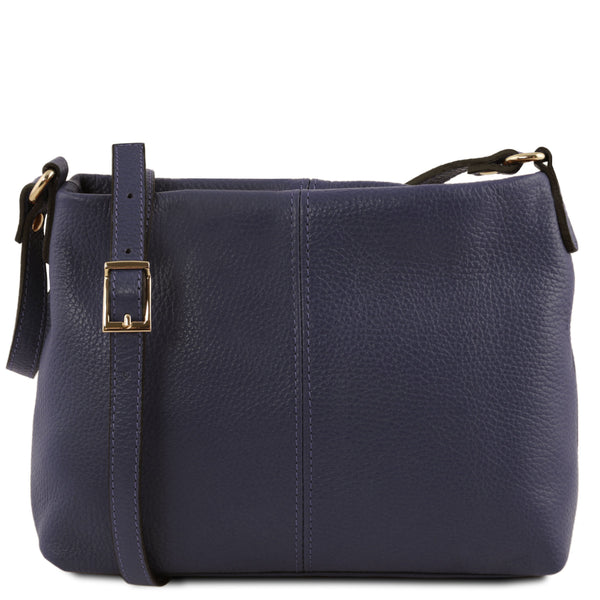 Tuscany Leather 'TL Bag' Ladies Soft Leather Shoulder Bag (TL141720) Ladies Shoulder Bag Tuscany Leather Dark Blue