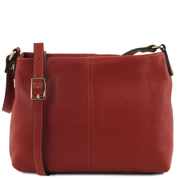 Tuscany Leather 'TL Bag' Ladies Soft Leather Shoulder Bag (TL141720) Ladies Shoulder Bag Tuscany Leather Red