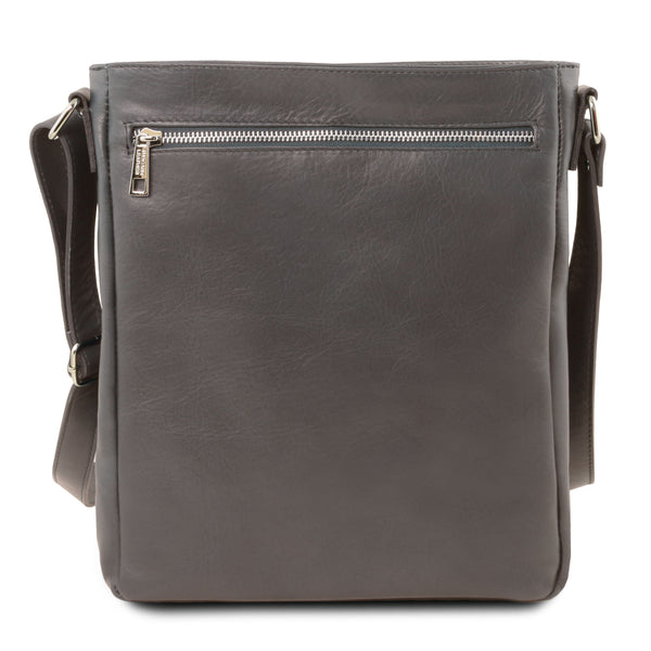 Tuscany Leather 1st Class 'Cesare' Men's Leather Crossbody Bag - Made in Tuscany
