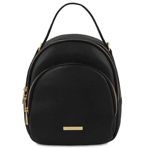 Tuscany Leather 'TL Bag' Leather Backpack For Women (TL141743) Backpack Tuscany Leather Black