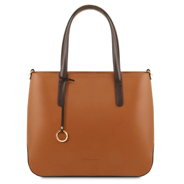 Tuscany Leather 'Penelope' Leather Shoulder Tote Bag