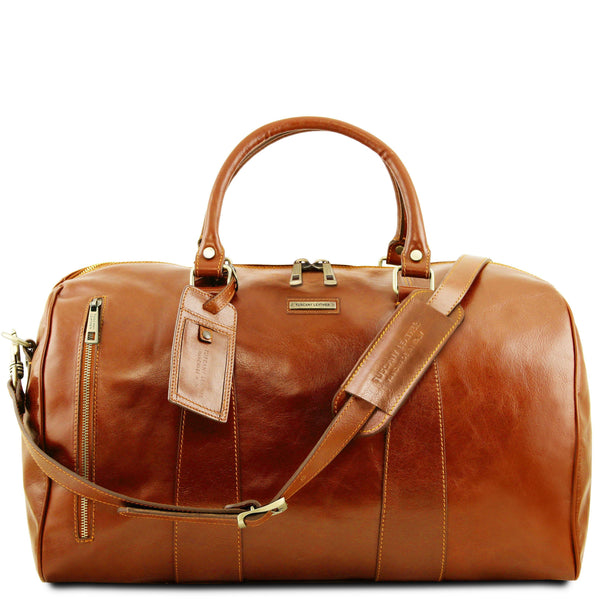 Tuscany Leather 'TL Voyager' Travel Leather Duffle Bag - Large (TL141794) Duffle Bag Tuscany Leather Honey