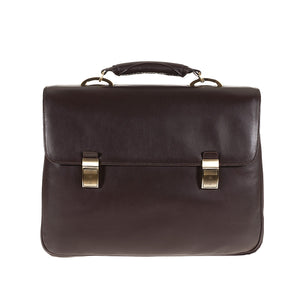 Tuscans 'Sterlina' Men's Leather Briefcase Briefcase Tuscans Brown