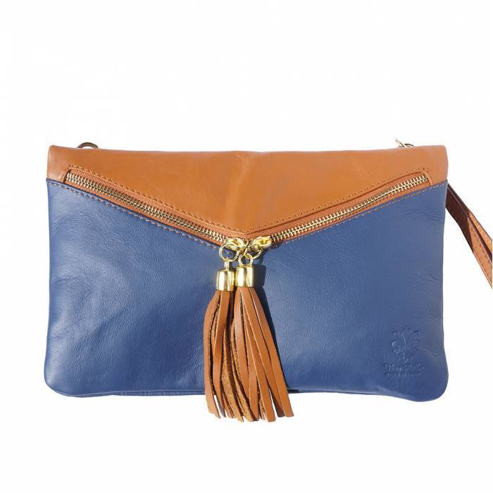 Made in Tuscany 'Rufina' Leather Crossbody Clutch