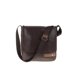 Tuscans 'Algedi' Men's Leather Messenger Bag Messenger Bag Tuscans Brown/Taupe