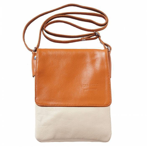 Made In Tuscany 'Vala' Leather Cross Body Bag Crossbody Bag Made in Tuscany Beige/Tan