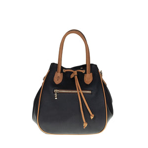 Tuscans 'Luicciana' Women's Leather Handbag Handbag Tuscans BLACK