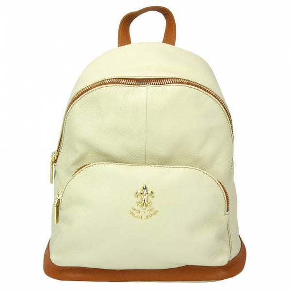 Made In Tuscany 'Carola' Leather Backpack Backpack Made in Tuscany Beige/Tan
