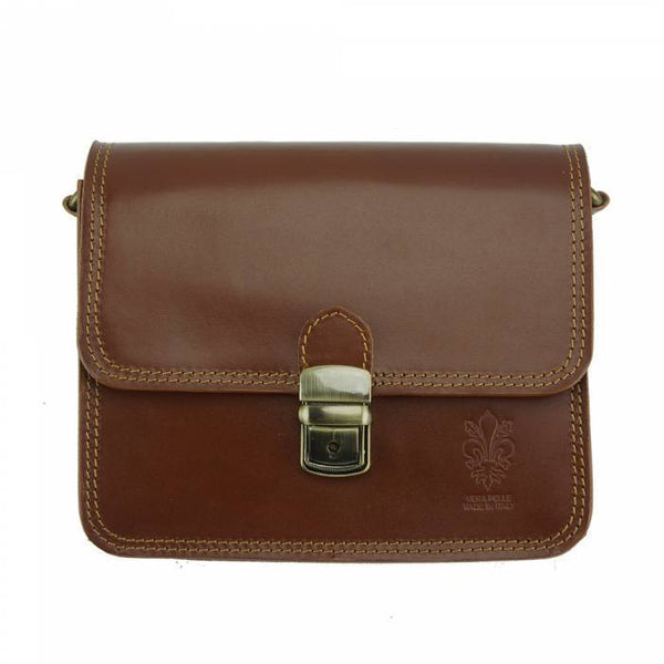 Made In Tuscany 'Diana' Leather Cross-Body Shoulder Bag Crossbody Bag Made in Tuscany Brown