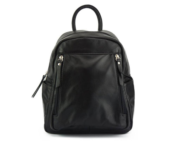 Made In Tuscany 'Santina' Leather Backpack Backpack Made in Tuscany Black