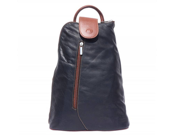 Made In Tuscany 'Michela' Gm Contrast Italian Leather Backpack Backpack Made in Tuscany Black/Brown