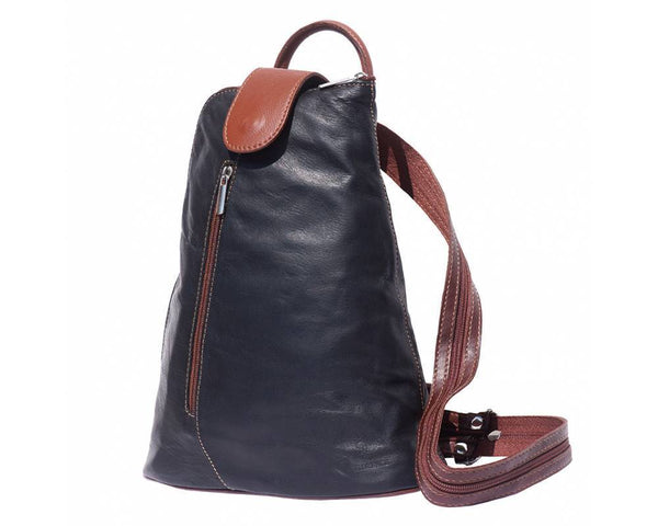 Made In Tuscany 'Michela' Gm Contrast Italian Leather Backpack Backpack Made in Tuscany