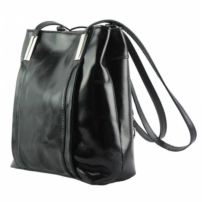 Made In Tuscany 'Lidia' Leather Shoulder Bag Ladies Shoulder Bag Made in Tuscany Black