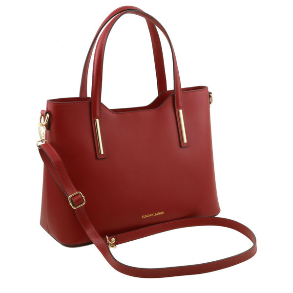 Tuscany Leather 'Olimpia' Leather Shopping Tote Bag (Large) Ladies Shoulder Bag Tuscany Leather