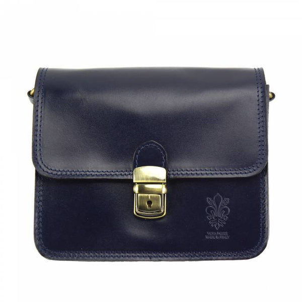 Made In Tuscany 'Diana' Leather Cross-Body Shoulder Bag Crossbody Bag Made in Tuscany Dark Blue