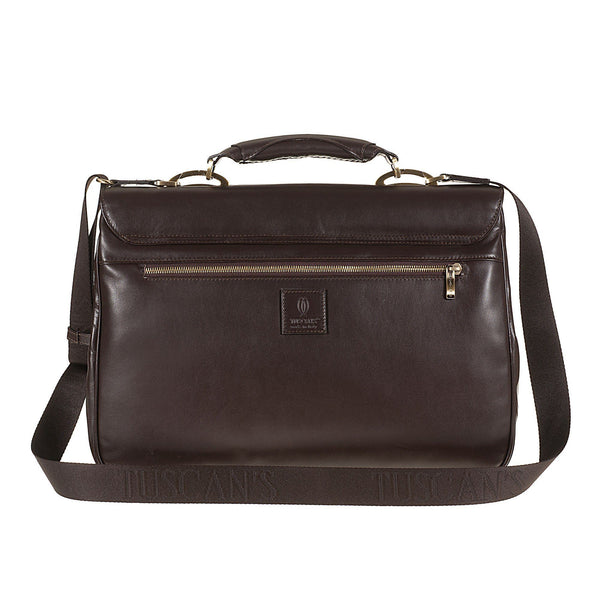 Tuscans 'Euro' Men's Leather Briefcase Briefcase Tuscans
