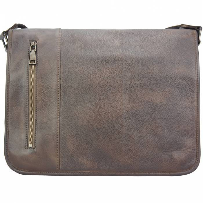 Made In Tuscany 'Grigori' Leather Messenger Bag Messenger Bag Made in Tuscany Dark Brown