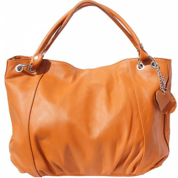 Made In Tuscany 'Alessandra' Hobo Leather Bag Handbag Made in Tuscany Tan