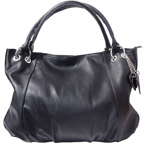 Made In Tuscany 'Alessandra' Hobo Leather Bag Handbag Made in Tuscany Black