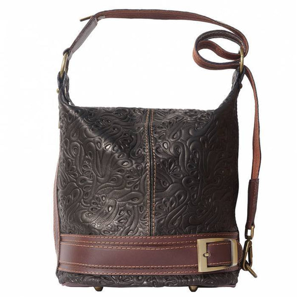 Made In Tuscany 'Caterina S' Leather Backpack Backpack Made in Tuscany Black/Brown