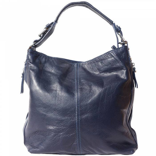 Made In Tuscany 'Betta' Leather Shoulder Bag Ladies Shoulder Bag Made in Tuscany Dark Blue