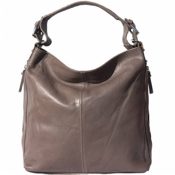 Made In Tuscany 'Betta' Leather Shoulder Bag Ladies Shoulder Bag Made in Tuscany Grey