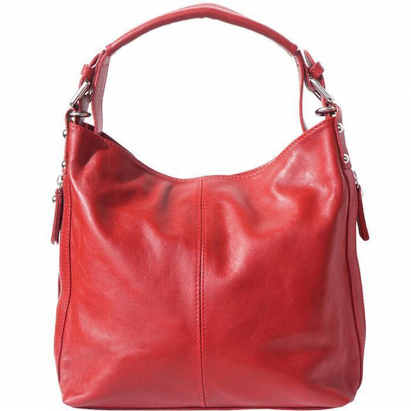 Made In Tuscany 'Betta' Leather Shoulder Bag Ladies Shoulder Bag Made in Tuscany Light Red