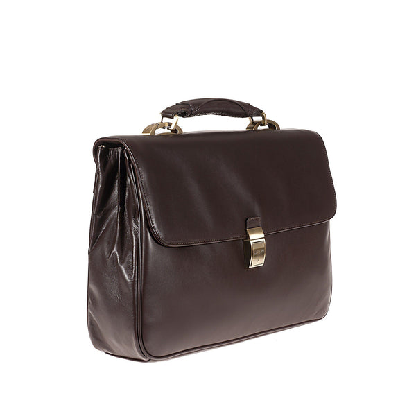 Tuscans 'Euro' Men's Leather Messenger Bag