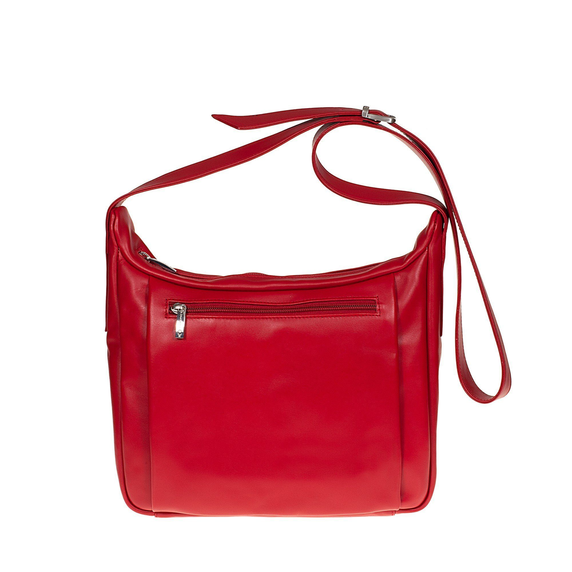 Tuscans 'Celsa' Women's Leather Shoulder Bag Ladies Shoulder Bag Tuscans Red