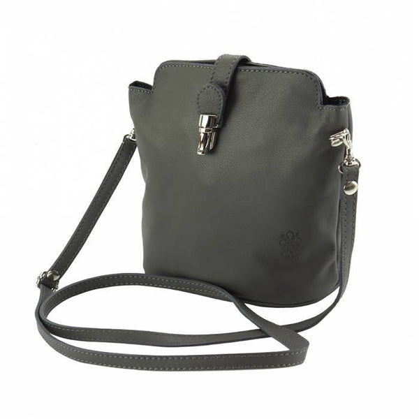 "Made In Tuscany ""Clara"" Leather Cross-Body Shoulder Bag Crossbody Bag Made in Tuscany"