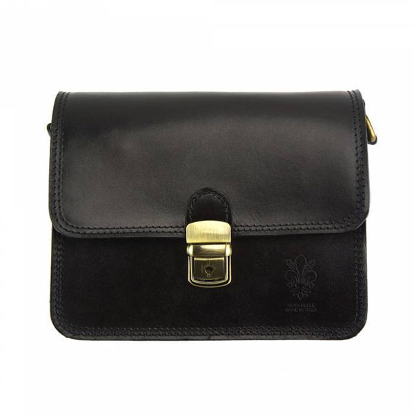 Made In Tuscany 'Diana' Leather Cross-Body Shoulder Bag Crossbody Bag Made in Tuscany Black