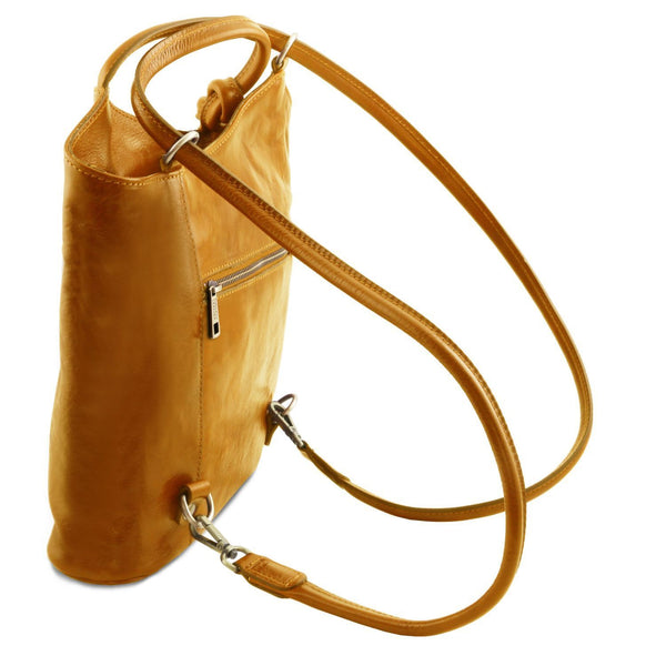 Tuscany Leather Patty Leather Convertible Bag/Backpack Ladies Shoulder Bag Tuscany Leather