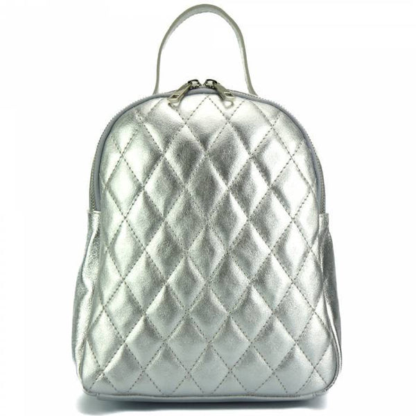 Made In Tuscany 'Basilia' Leather Backpack Backpack Made in Tuscany Silver