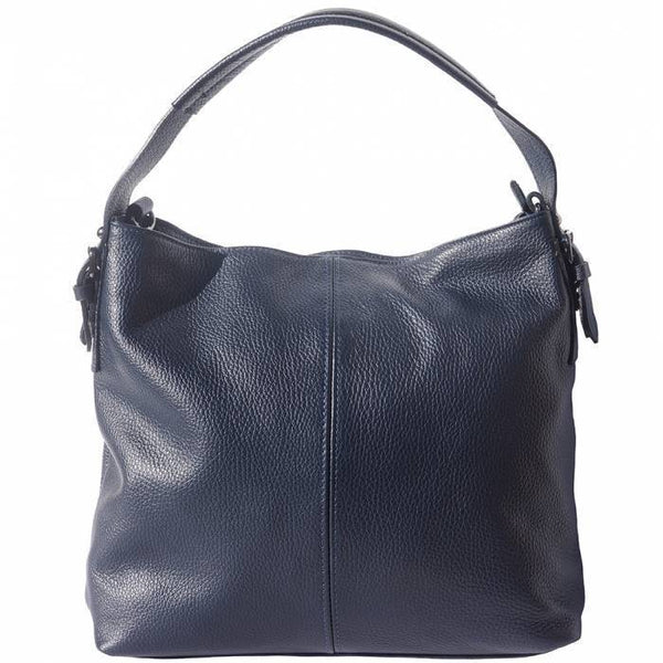 Made In Tuscany 'Spontini' Leather Handbag Handbag Made in Tuscany Dark Blue