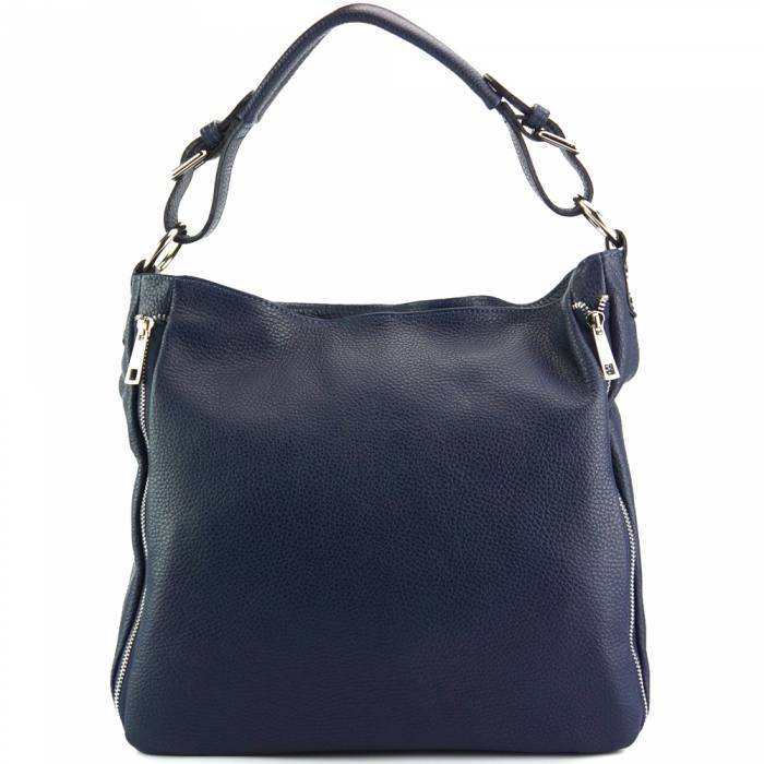 Made In Tuscany 'Artemisa' Leather Hobo Bag Handbag Made in Tuscany Dark Blue