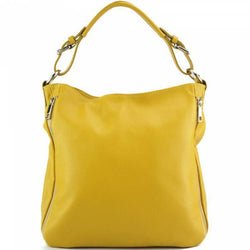 Made In Tuscany 'Artemisa' Leather Hobo Bag Handbag Made in Tuscany Yellow