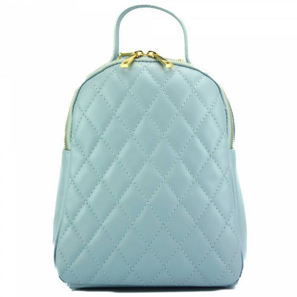 Made In Tuscany 'Basilia' Leather Backpack Backpack Made in Tuscany Light Cyan