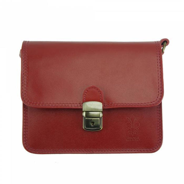 Made In Tuscany 'Diana' Leather Cross-Body Shoulder Bag Crossbody Bag Made in Tuscany Dark Red