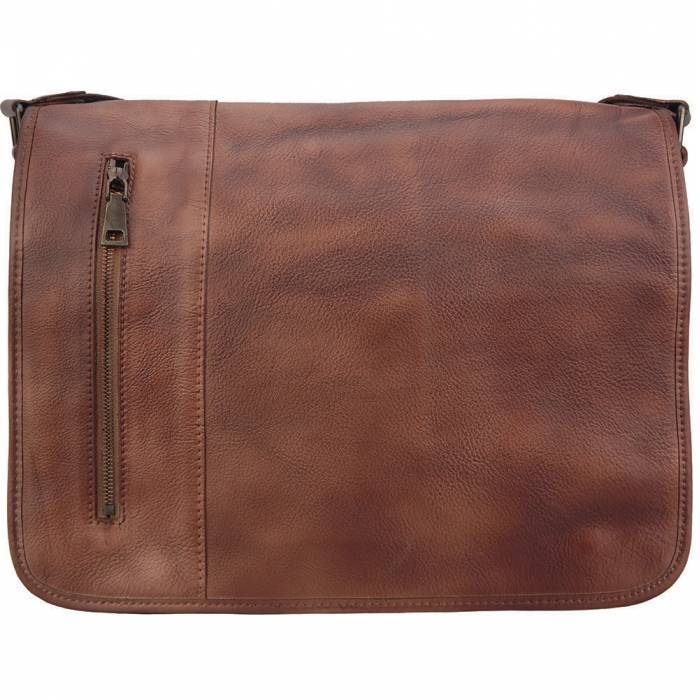 Made In Tuscany 'Grigori' Leather Messenger Bag Messenger Bag Made in Tuscany Brown