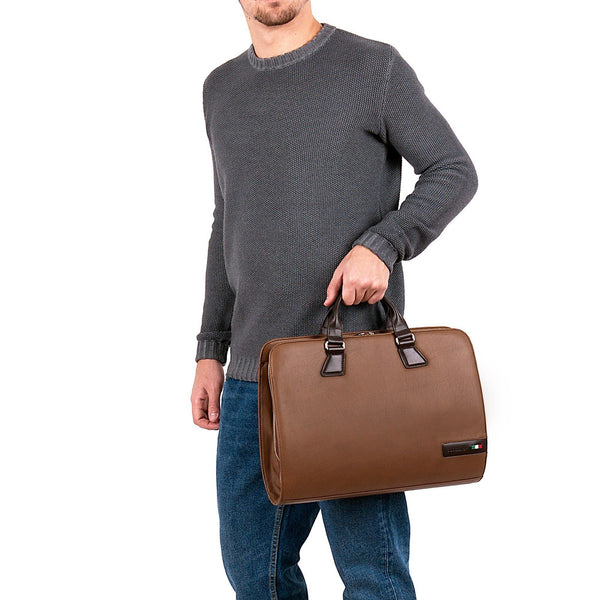 Tuscans 'Spica' Men's Leather Briefcase Briefcase Tuscans