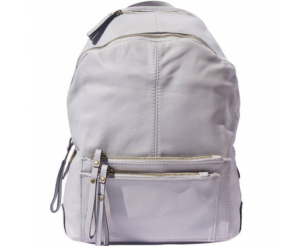 Made In Tuscany 'Springs' Soft Italian Leather Backpack Backpack Made in Tuscany Grey