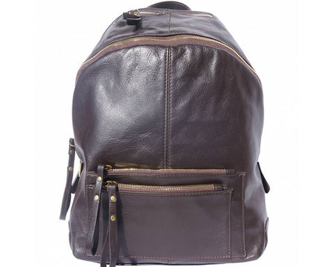 Made In Tuscany 'Springs' Soft Italian Leather Backpack Backpack Made in Tuscany Dark Brown