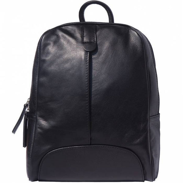 Made In Tuscany 'Cinzia' Leather Backpack Backpack Made in Tuscany Black