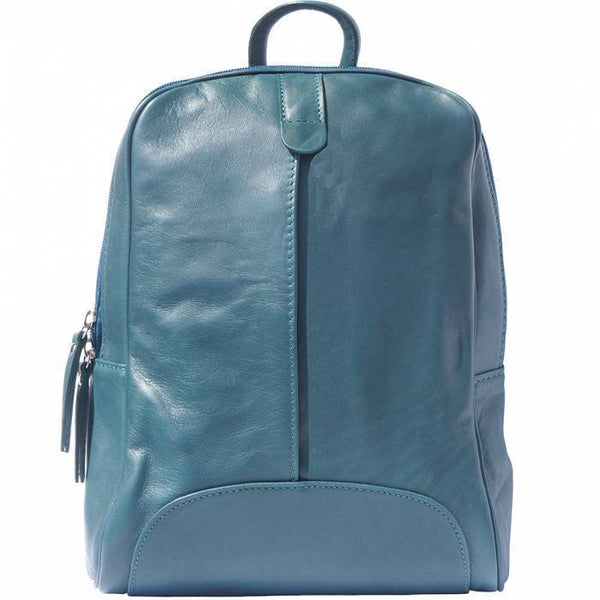 Made In Tuscany 'Cinzia' Leather Backpack Backpack Made in Tuscany Dark Turquoise