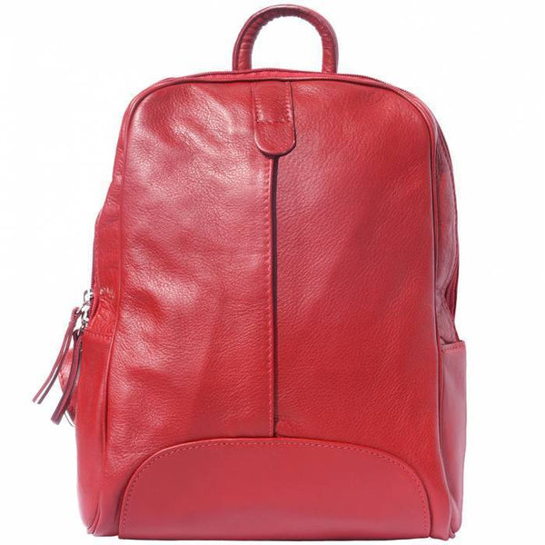 Made In Tuscany 'Cinzia' Leather Backpack Backpack Made in Tuscany Light Red