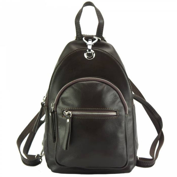 Made In Tuscany 'Olivia' Leather Backpack Backpack Made in Tuscany Dark Brown