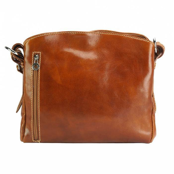 Made In Tuscany 'Viviana V Gm' Leather Shoulder Bag Ladies Shoulder Bag Made in Tuscany Tan