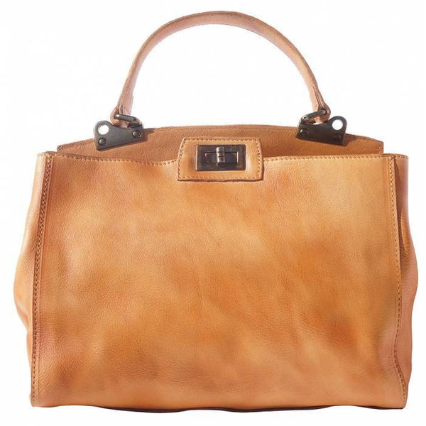Made In Tuscany 'Peekaboo' Leather-Handbag Handbag Made in Tuscany Tan