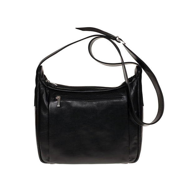 Tuscans 'Celsa' Women's Leather Shoulder Bag Ladies Shoulder Bag Tuscans Black